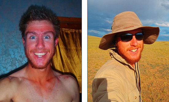 英24岁探险家独自徒步穿越蒙古国 最多一天走55公里-4