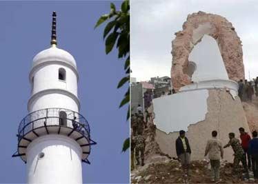 尼泊尔强烈地震 名胜景点前后对比 多处景点成废墟