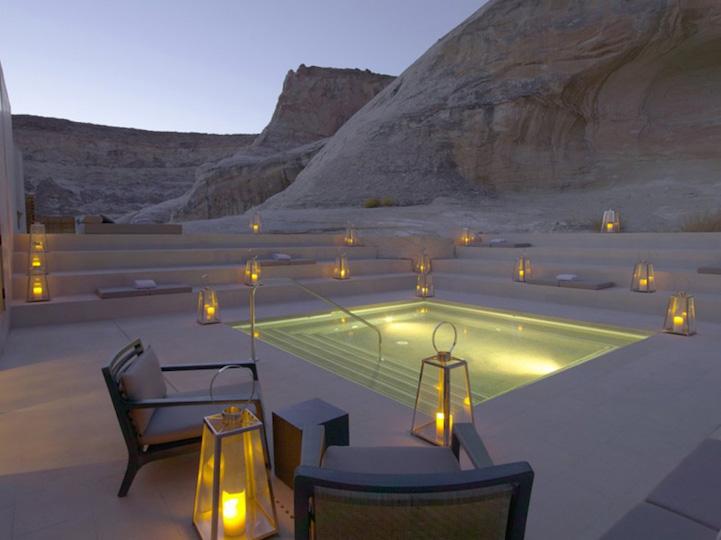 美国犹他州豪华水疗中心完美融在华丽的沙漠中