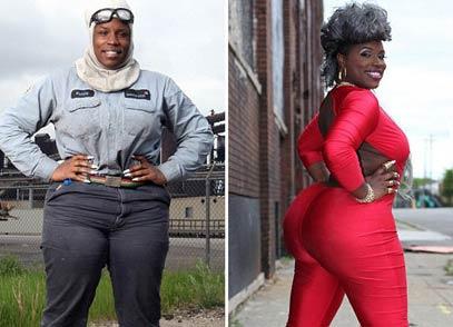轧钢厂黑人女工因丰乳肥臀成功转型当模特