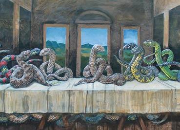 毒蛇入侵伟大的绘画艺术名作