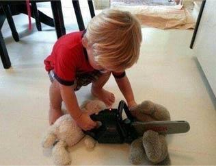 熊孩子的破坏力不需要解释