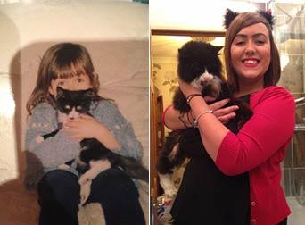 13令人心碎的照片:主人分享与心爱的宠物的第一个和最后一个时刻