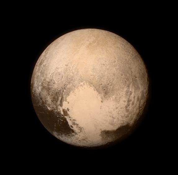 冥王星高清照片:人类探测器首次近距离飞过冥王星
