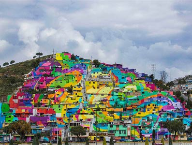 """为减少青少年暴力事件 墨西哥政府要求""""街头艺术家""""画200面墙"""