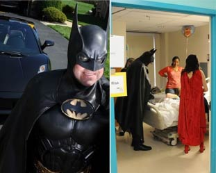 美国男子开蝙蝠车装扮成蝙蝠侠看望医院儿童 遭遇车祸身亡