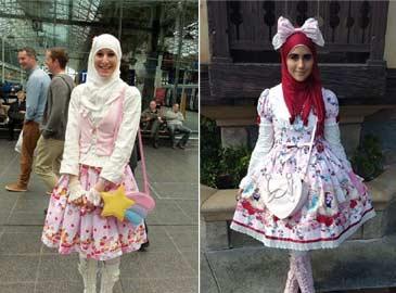 穆斯林传统服饰如何跟洛丽塔结合在一起