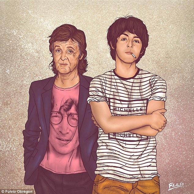 艺术家绘制杰克逊、乔布斯等名人和年轻版自己的插画-0-image-a-37_1442517188530 (1)