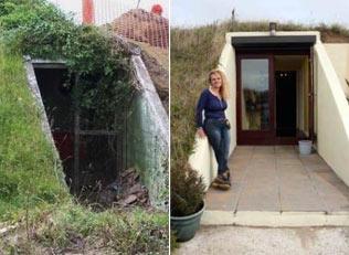 女子买下二战废弃地堡 改造后有惊人的变化