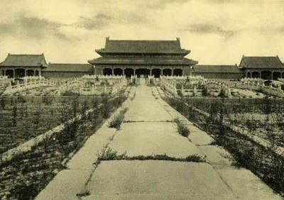 紫禁城晚清旧貌罕见老照片
