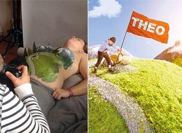 太有趣了!丈夫为妻子拍摄创意怀孕照片