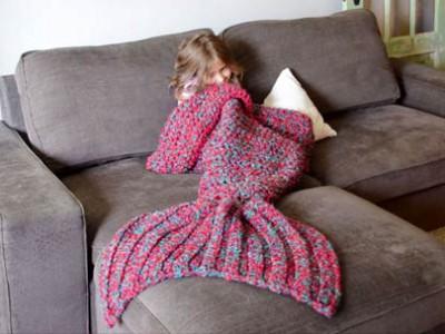 美人鱼毯子 舒适和有趣的方式将自己包裹起来
