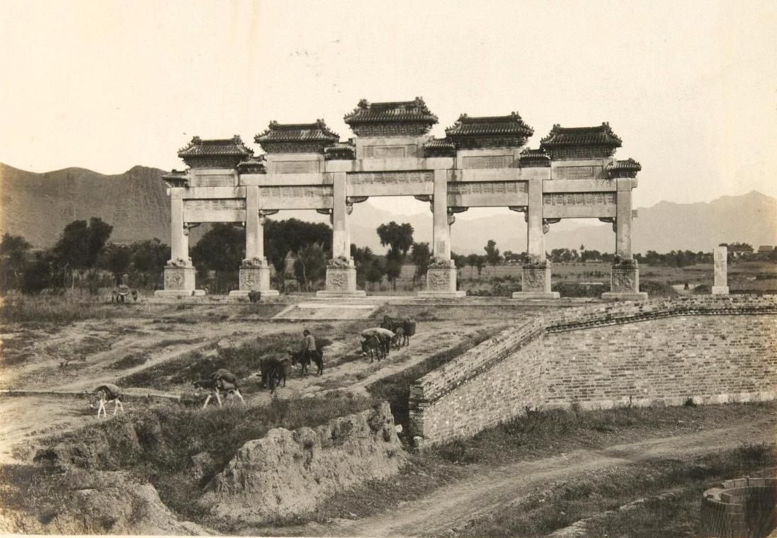 100年前北京昌平、十三陵、居庸关、小汤山老照片