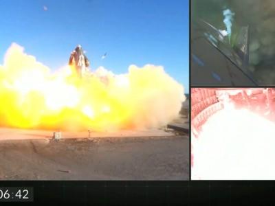 星舰SN8试飞降落时爆炸