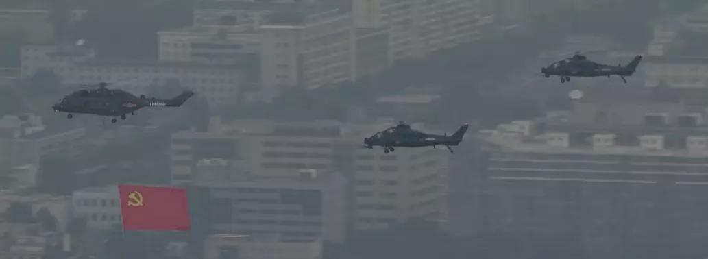 亮相建党百年庆祝大会的直升机和歼击机新装备 与两栖作战有关